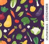 vegetables vector healthy...   Shutterstock .eps vector #1050244808