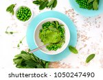 green peas and mint refreshing...   Shutterstock . vector #1050247490