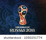 Small photo of Istanbul, Turkey - March 15, 2018: Russia World Cup 2018 logo.