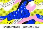seamless pattern  hand drawn... | Shutterstock .eps vector #1050253469