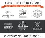 set of vector street food... | Shutterstock .eps vector #1050255446