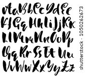 handdrawn dry brush font.... | Shutterstock .eps vector #1050262673