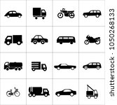 transportation icon set | Shutterstock .eps vector #1050268133