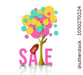spring sale banner with... | Shutterstock .eps vector #1050270224