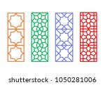 chinese rectangle window frame... | Shutterstock .eps vector #1050281006