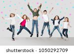 Collage Happy Group Kids Jumping - Fine Art prints