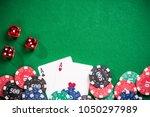 poker and casino gamlbing...   Shutterstock . vector #1050297989