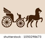 vintage horse drawn carriage....   Shutterstock .eps vector #1050298673