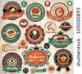 vintage retro grunge bakery ... | Shutterstock .eps vector #105030893