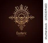 vector logo of nature geometric ... | Shutterstock .eps vector #1050309683