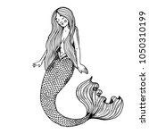 young beauty mermaid fabulous...   Shutterstock . vector #1050310199