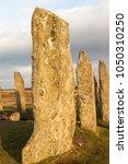 callanish stone circle on the... | Shutterstock . vector #1050310250