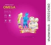 kids omega calcium and vitamin... | Shutterstock .eps vector #1050314360