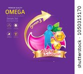 kids omega calcium and vitamin... | Shutterstock .eps vector #1050315170
