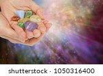crystal healer offering...   Shutterstock . vector #1050316400