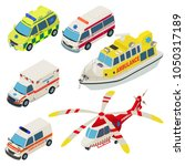 ambulance urban transport icons ... | Shutterstock .eps vector #1050317189