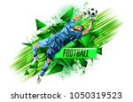 soccer player with a graphic... | Shutterstock .eps vector #1050319523