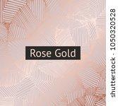 rose gold. vector decorative...   Shutterstock .eps vector #1050320528