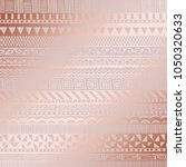 rose gold. vector decorative... | Shutterstock .eps vector #1050320633