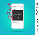 social network post place for...   Shutterstock .eps vector #1050322634
