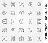blockchain technology icons set....   Shutterstock .eps vector #1050323009