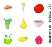 variety of vegetable food icons ... | Shutterstock .eps vector #1050324254