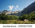 mountains of the caucasus range ... | Shutterstock . vector #1050327350