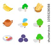 vegan tasty icons set.... | Shutterstock .eps vector #1050328088