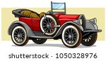 cartoon retro vintage luxury... | Shutterstock .eps vector #1050328976