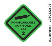 non flammable and non  toxic... | Shutterstock .eps vector #1050332603