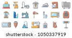 home appliances icon set.... | Shutterstock .eps vector #1050337919