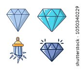 diamond icon set. cartoon set... | Shutterstock .eps vector #1050340229