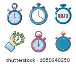 stopwatch icon set. cartoon set ... | Shutterstock .eps vector #1050340250