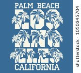 los angeles palm surf ... | Shutterstock .eps vector #1050345704