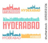 hyderabad india flat icon... | Shutterstock .eps vector #1050353156