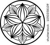 beautiful mandala pattern.... | Shutterstock .eps vector #1050358109
