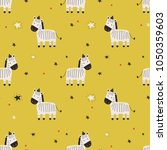 seamless pattern with cute... | Shutterstock .eps vector #1050359603