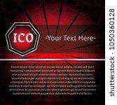 ico and token conceptual design ... | Shutterstock .eps vector #1050360128