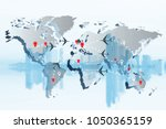 transportation or logistics  ... | Shutterstock . vector #1050365159