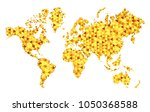 vector golden world map  in... | Shutterstock .eps vector #1050368588