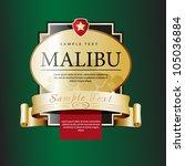 ornate labels malibu. grouped... | Shutterstock .eps vector #105036884