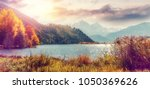 magical sunset over the... | Shutterstock . vector #1050369626