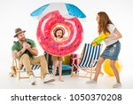 family of tourists with... | Shutterstock . vector #1050370208