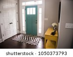 contemporary grey and yellow... | Shutterstock . vector #1050373793