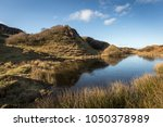 the fairy glen on the isle of... | Shutterstock . vector #1050378989