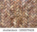 stone brick wall textured...   Shutterstock . vector #1050379628