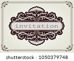 vintage frame with beautiful...   Shutterstock .eps vector #1050379748