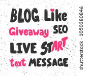 blog like giveaway seo live... | Shutterstock .eps vector #1050380846