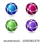 networks globe connections... | Shutterstock . vector #1050382370