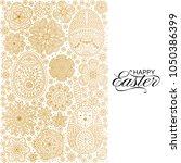 happy easter background. good... | Shutterstock .eps vector #1050386399